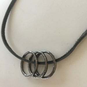 Karma by Dogeared leather pendant necklace - NWT